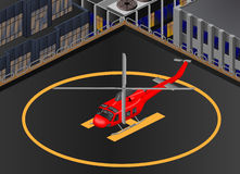 Bell-412 helikopter Isometric Obrazy Royalty Free