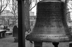 Bell of Hope near the World Trade Center Site Stock Images