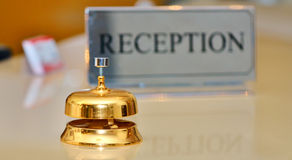 Bell at the hotel Royalty Free Stock Photo