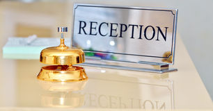 Bell at the hotel. Shoot inside Stock Photo