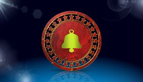 Bell icon,sing,3D illustration. Bell icon,sing,best 3D illustration Stock Images
