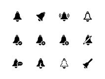 Bell icons on white background. Royalty Free Stock Photos