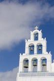 Bell im santorini Stockbild