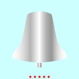 Bell ja jest koloru ikoną Zdjęcie Stock
