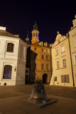 Bell on Kanonia Square in Warsaw at Night Stock Photography