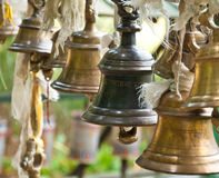 Bell at Khachoedpalri lake in Pelling, Sikkim Stock Photography