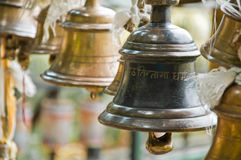 Bell in Khachoedpalri See in Pelling, Sikkim Stockfotos