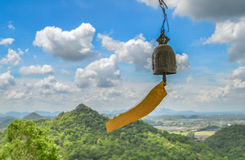 Bell on landscape background. From hill Stock Image