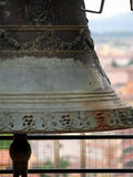 Bell in the Leaning Tower of Pisa Italy Royalty Free Stock Photography