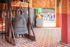Bell measure. Wat Phra That Lampang Luang stock photos