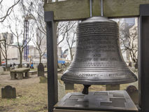 New York memory. Bell at the memory of the attack on September 11, 2011 in New York Royalty Free Stock Images