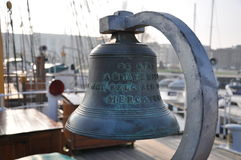 Bell of Mercator ship Stock Photos