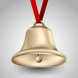 Bell metallic gold Stock Images