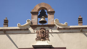 Bell-mexikanische Symbol-Regierung Mexiko Stockfotos