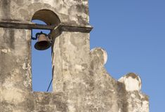 Bell in the Mission Tower Stock Photo