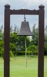 Bell mit Säulenholz Stockfoto