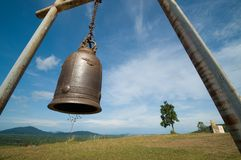 Bell on mountain and blue sky Stock Image