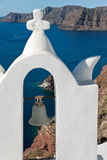 Bell nach Oia Santorini Lizenzfreies Stockbild