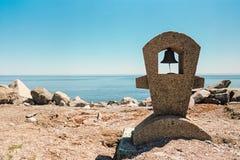Bell near the ocean Royalty Free Stock Photos