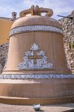 Bell in Budva. Bell next to Old Town walls in Budva, Montenegro Stock Photos