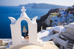 Bell in Oia on Santorini island, Greece Stock Image