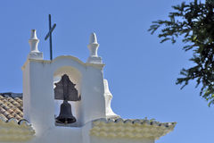 Bell of old white church, in Bahia Stock Photography