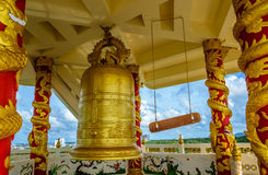 BELL IN THE PAGODA. Located at Mahapanya Vidayalai University in Hatyai Thailand. The College for the Wisdom, International Buddhist college Royalty Free Stock Images