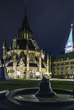 Bell on Parliament. The Victoria Tower Bell at Parliament Hill at night Royalty Free Stock Photo