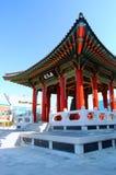 Bell Pavillion cerca de Hwaseong Haenggung Foto de archivo libre de regalías
