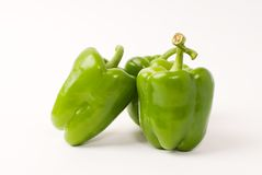 Bell pepper. Three fresh bell pepper on background stock photography