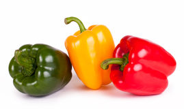 Bell pepper. Sweet tasty bell peppers on white background Royalty Free Stock Image