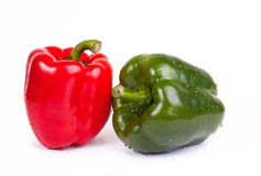 Bell pepper. Two tasty bell pepper on white background Royalty Free Stock Photography