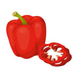 Bell pepper.BBQ single icon in cartoon style vector symbol stock illustration web. Royalty Free Stock Photography