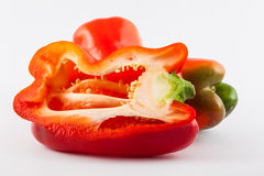 Bell pepper Capsicum annuum. In white background royalty free stock photos