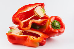 Bell pepper Capsicum annuum. In white background royalty free stock images