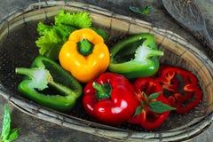 Bell pepper or capsicum, sweet pepper. Fresh bell pepper or capsicum, sweet pepper royalty free stock photography