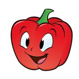 Bell Pepper. Cartoon bell pepper. Isolated objects for design element Royalty Free Stock Photo