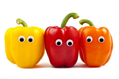 Bell Pepper Characters. Over a white background Royalty Free Stock Photography