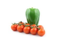 Bell pepper and cherry tomatoes Royalty Free Stock Photography