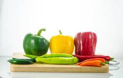 Bell pepper and chili Royalty Free Stock Photos