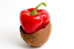Bell pepper-coconut Stock Photo