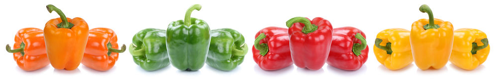 Bell pepper colorful peppers paprika paprikas vegetable food iso Stock Image