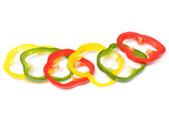 Bell pepper cuts Royalty Free Stock Photos