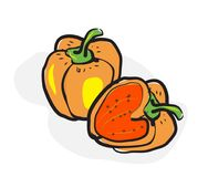 Bell pepper in doodle style Royalty Free Stock Photos
