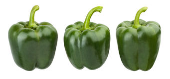 Bell pepper. Green bell pepper isolated on white background royalty free stock photos