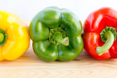 Bell pepper in green, red and yellow Stock Photography