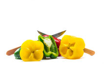 Bell pepper is ingredient in a healthy diet Royalty Free Stock Photo