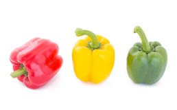 Bell pepper isolated. On white background Royalty Free Stock Photography