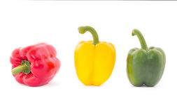 Bell pepper isolated on white background. Raw food Royalty Free Stock Photography