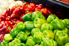 Bell pepper on local farmers market. Royalty Free Stock Image